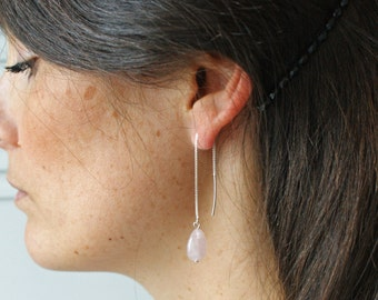Earrings in sterling silver and gemstones drops (2 colours) Pemberley Jewelry / Sterling silver earrings / Jewelry Silver /Bohemia