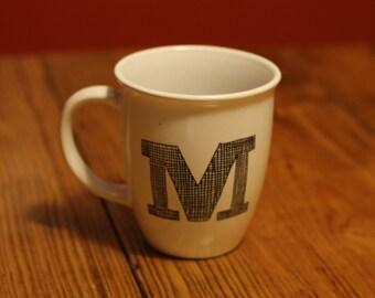 Initial Hand Painted Mug