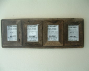 Barn Wood Picture Frame Collage, 5 x 7 flat,very rustic very old wood