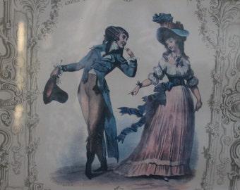 French Themed Framed Print