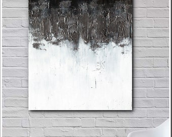 ART- Original Abstract Contemporary Textured  Acrylic Painting on Canvas by Heuchlow FREE SHIPPING