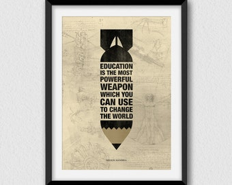 The most powerful weapon II. Printable, inspirational and decorative wall art. Instant Download for 3 High Resolution JPEG files.