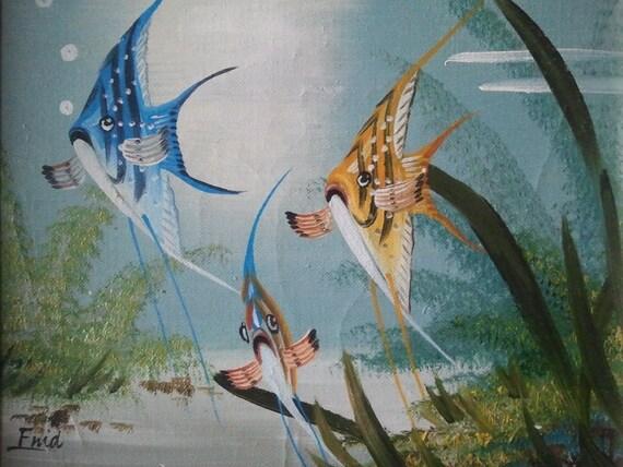 Fish oil paintingtropical fishocean fishsalt water for Ocean blue fish oil