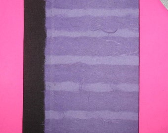 Purple on Purple Striped Blank Book Journal Sketch Book