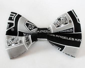 LA Kings Bow Tie | Hockey Bow Tie | Sports Bow Tie | Hockey Team | Gifts for Him | Bowtie | Kids Hockey Bow Tie | Coach Gift