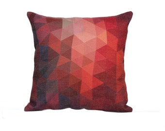 diamond throw pillow cover 18x18 geometric