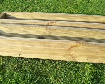 2 x x decking wooden garden planter, wood trough,600, 900 or 1200mm, handmade