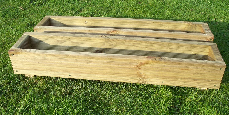 2 X X Decking Wooden Garden Planter Wood Trough600 900 Or