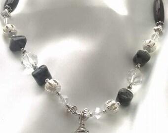 Diamond cut Crystal Necklace