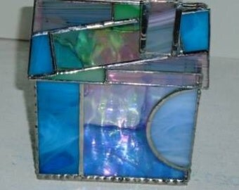 Stained Glass House Candy dish