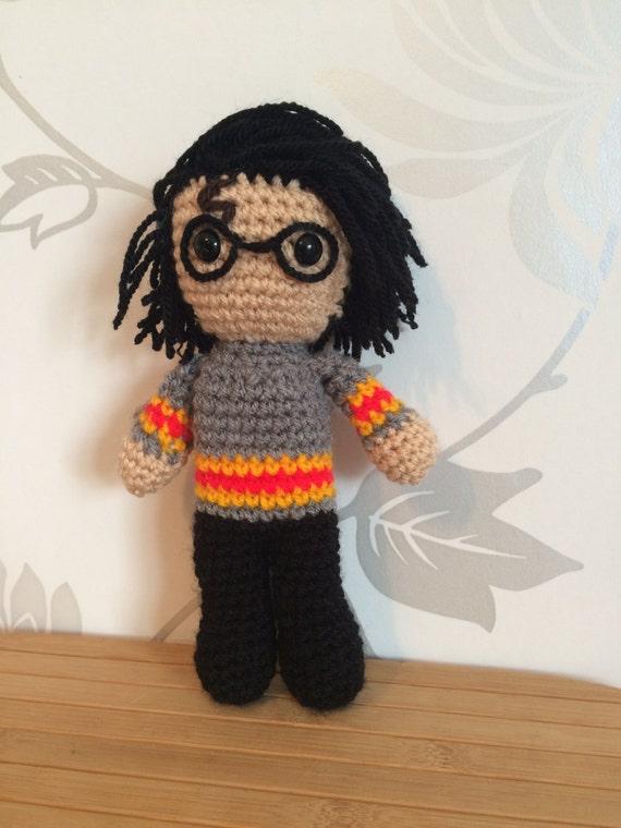 Amigurumi Glasses : Harry Potter Amigurumi Figure Doll with by PixiePlunksCrochet