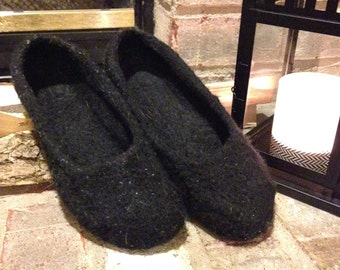 Felted Wool Ballet Flat Slippers