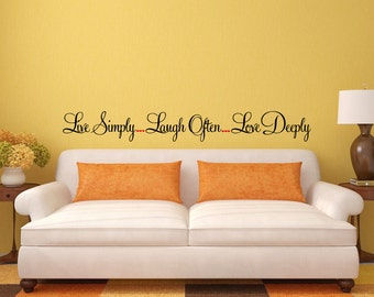 Live Love Laugh Wall Decal Sticker Vinyl Mural Bedroom Leaving Room Home Decor FREE SHIPPING L240