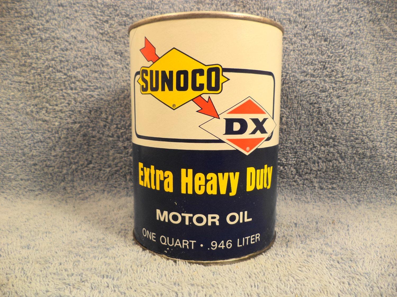 Sunoco Dx Extra Heavy Duty Motor Oil 1 Quart By Jandrsantiques