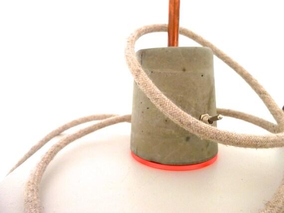 tischlampe beton kupfer und farbige plexiglas acryl. Black Bedroom Furniture Sets. Home Design Ideas