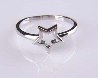 Sale!!!Sterling silver star ring, cute star ring, lovely, simple