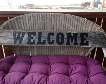 Welcome Rustic Barn Board Sign