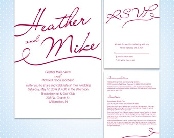 Printable Wedding Invitation - Say My Name Wedding Suite - Your Choice Of Colors