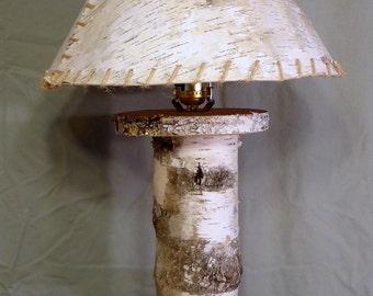 Birch Lamp Handmade Etsy Uk