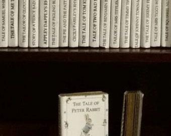 Large Job Lot of Full 23 Titles 1/12th Beatrix Potter books for Dolls Houses