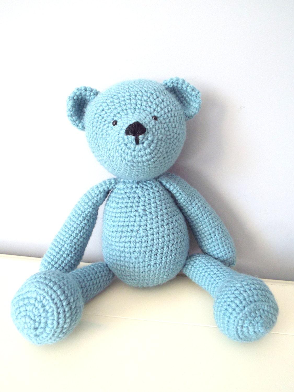 Crochet Teddy Bear Dolls Handmade Amigurumi Home Decor