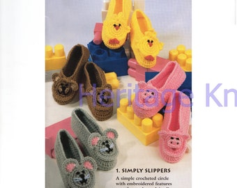 childrens slippers crochet pattern 99p