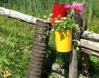 Rusty Sap Bucket, Floral Wedding Decor