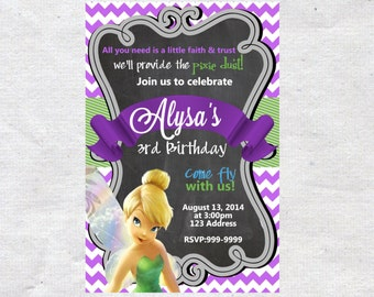 Tinkerbell Birthday invite,Tinkerbell invite,Invite,Birthday Invite,Tinkerbell Party,Tinkerbell invite,Tinkerbell, Birthday Invitation