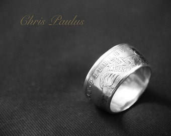 Morgan Dollar Silver Coin Ring