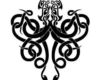 Kraken vinyl decal