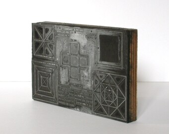 Inking pad with geometrical draws to print, 1930s