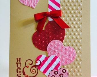 Valentine's Day, Elegant, Handmade, Greeting Card,