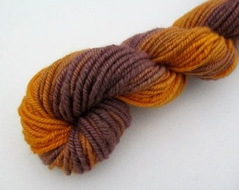 Handspun Hand Dyed BFL Gradient Yarn: Worsted, 96 yards
