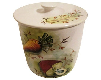 Italian Hand-Painted Kitchen Canister