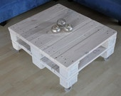 Articles similaires table basse blanche avec roll up for Table basse palette blanche