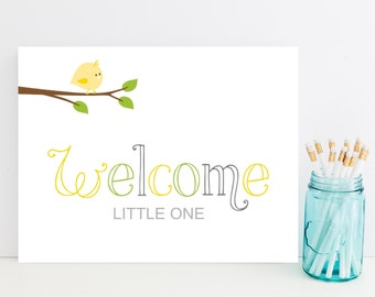 Welcome Little One Gender Neutral Baby Card - Cute New Gender Neutral Baby Card