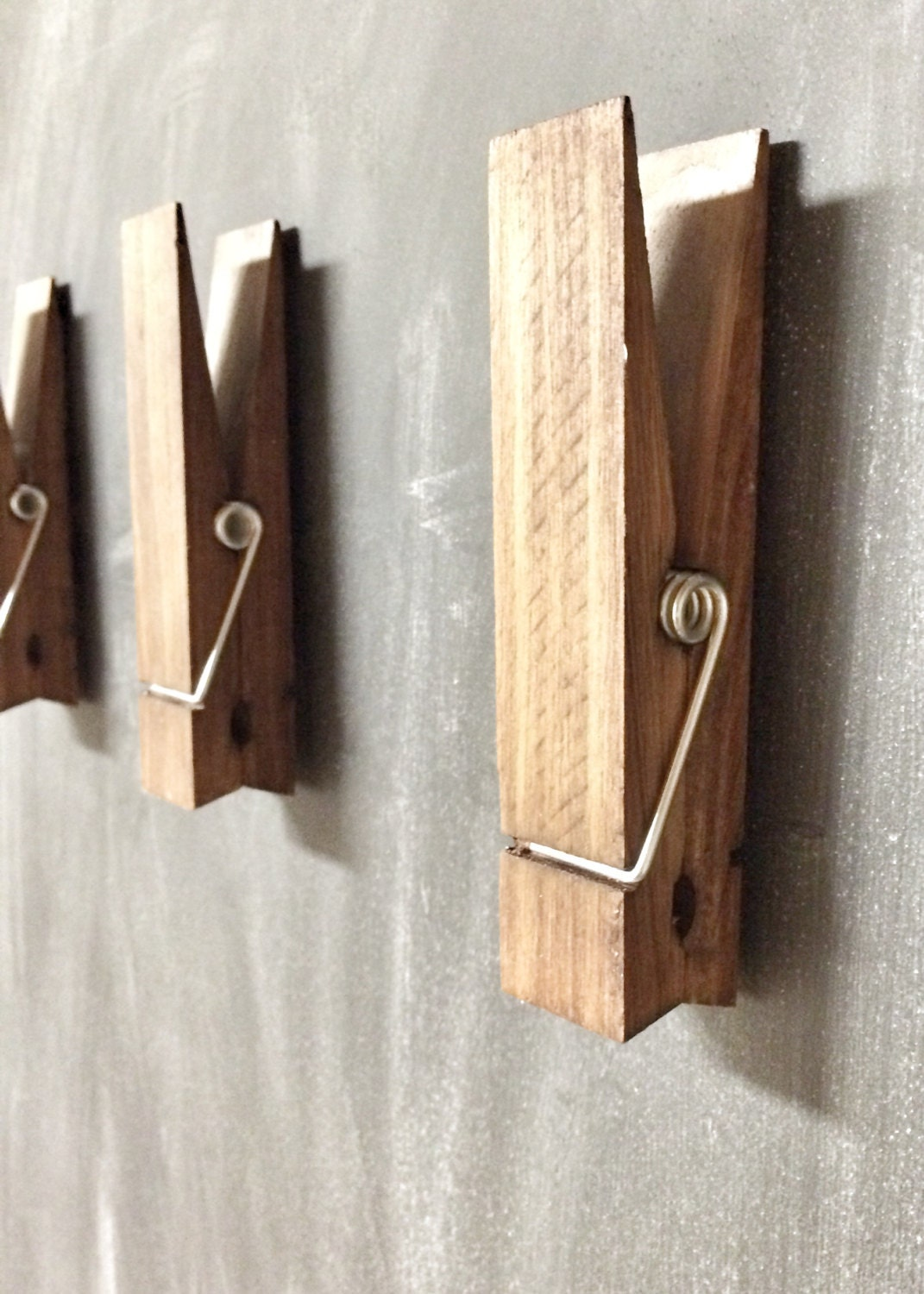 Large Decorative Flower Pots: Large Rustic 6 Decorative Magnetic Clothespin In Dark