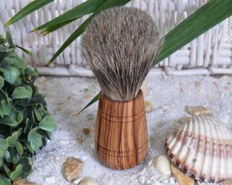 "Badger hair shaving brush with olive wood handle ""Sir George"""