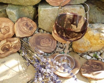 coaster olive wood (set of 6)