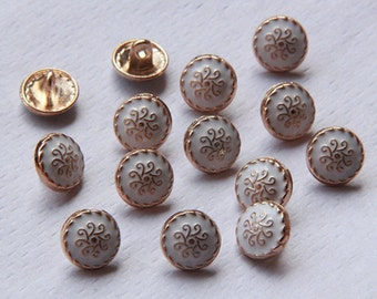 5 pcs Metal Buttons,Small Metal Buttons,10 mm x 10 mm(1-84)