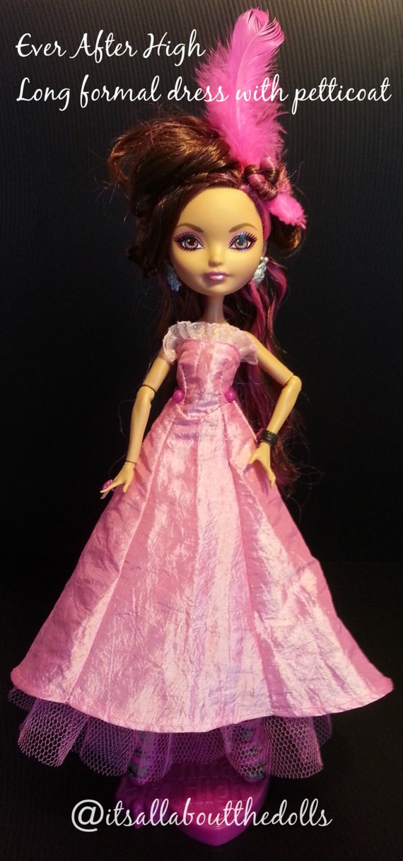 ever after high dolls pattern for a long formal dress with