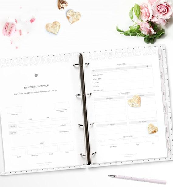 Printable Wedding Planner. Stylish and Beautiful