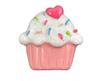 Pink Cupcake Kawaii Cabochon Decoden Flatback Resins (4 pcs)