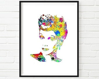 I Love Lucy Watercolor Art Print  Painting Wall Decor Home Decor Instant Download Printable Colorful Retro Wall Art Wall Hanging