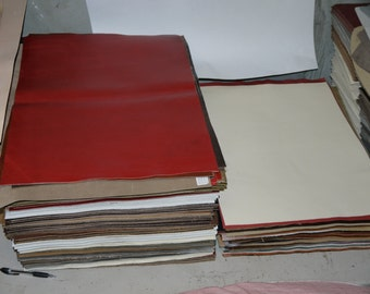 """Leather Panels Top Quality Large 18""""x 24"""" for (5) Panels"""