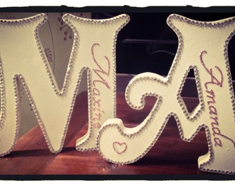 Stand alone personalised letter with bling
