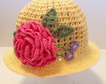 Crochet Sun Hat for summer