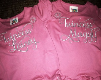 Twincess Tshirts (set of 2)