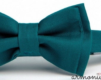 Teal Bow Tie -- Boys Bow Tie -- Adult Bow Tie