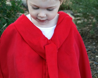Little Girls Scarf Neck Cape